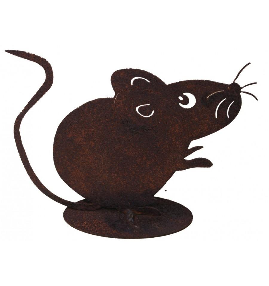 maus gro 10 cm katz und maustiere metallmichl aus edelrost rostdeko rostig eisen metall. Black Bedroom Furniture Sets. Home Design Ideas