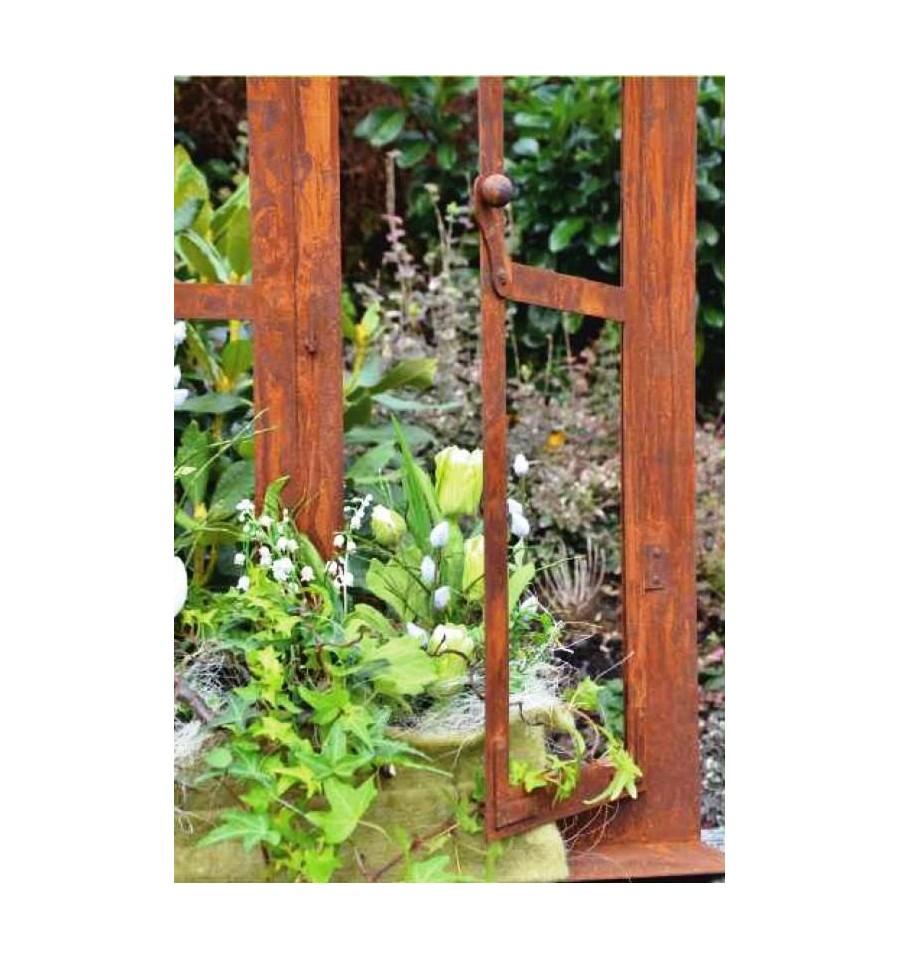 deko fenster aus edelrost 80 x 60 cm metallmichl