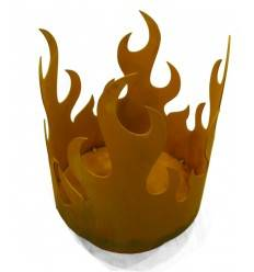Flammenkorb 45 cm x 35 cm - Edelrost Feuerschale