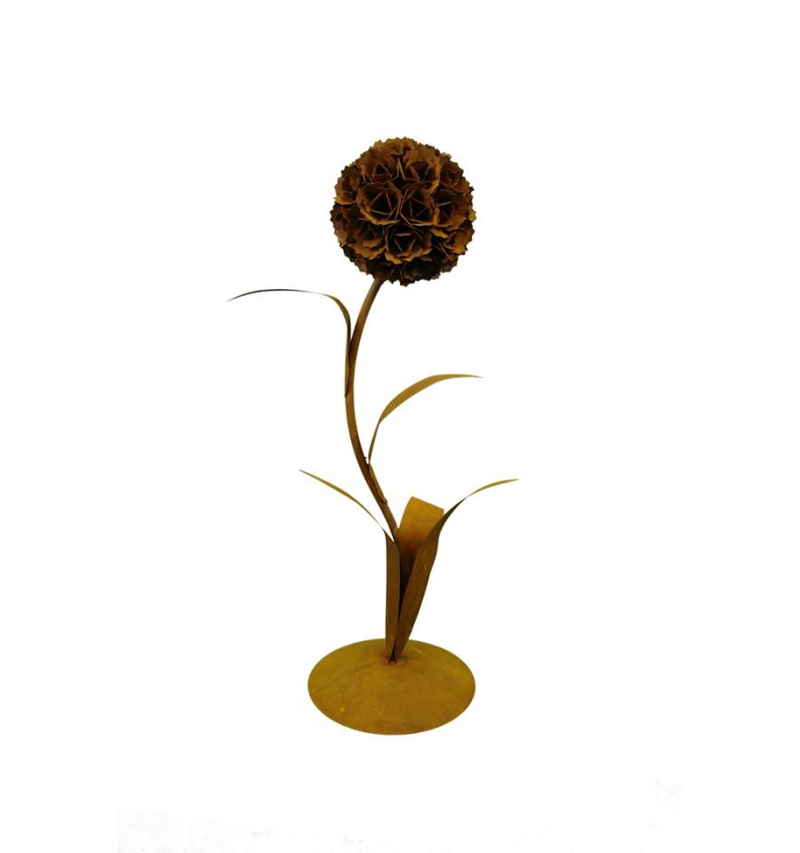 edelrost pusteblume mit 1 bl te 130 cm hoch metallmichl. Black Bedroom Furniture Sets. Home Design Ideas