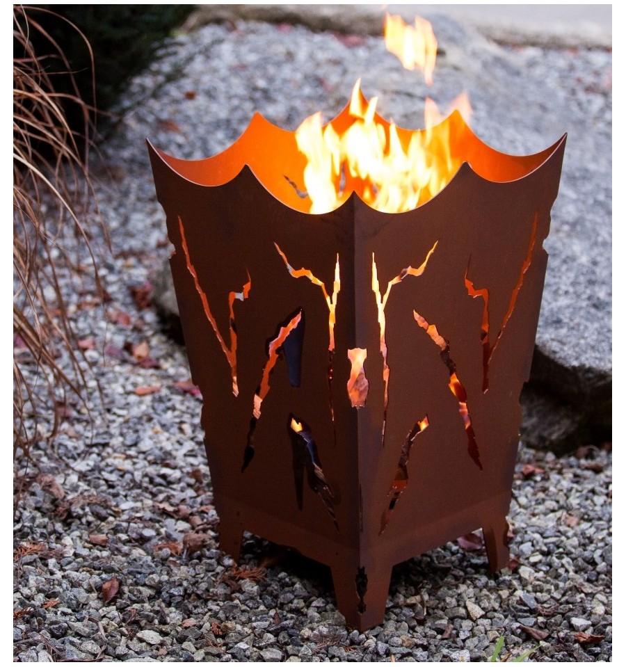 feuerkorb mystikfeuerschalenfeuer metallmichl aus edelrost rostdeko rostig eisen metall. Black Bedroom Furniture Sets. Home Design Ideas
