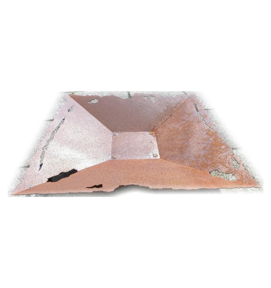 schale w rfelfeuer feuerschalenfeuer metallmichl aus edelrost rostdeko rostig eisen metall. Black Bedroom Furniture Sets. Home Design Ideas