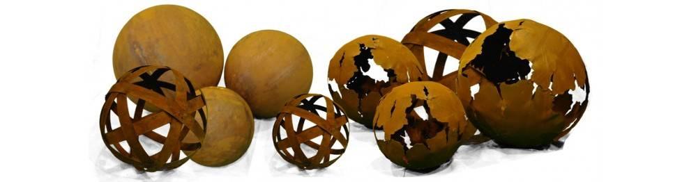 kugeln aus edelrost rostdeko kugeln vom metallmichl metallmichl. Black Bedroom Furniture Sets. Home Design Ideas