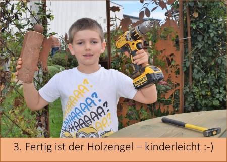Kinderleicht Holzengel selber machen Anleitung Schritt für Schritt