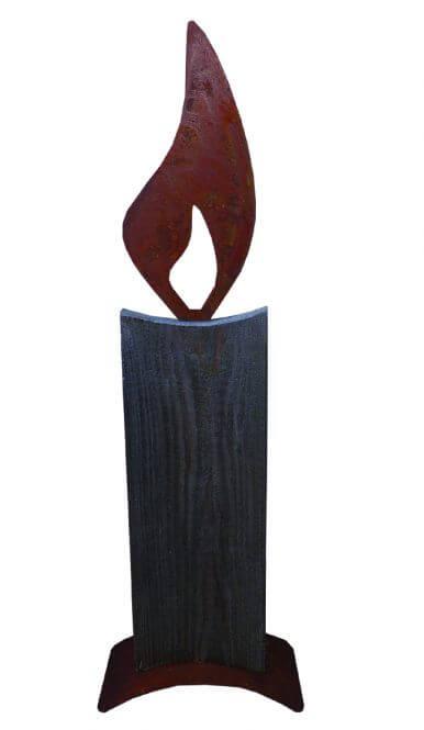 moderne Holzkerze basteln