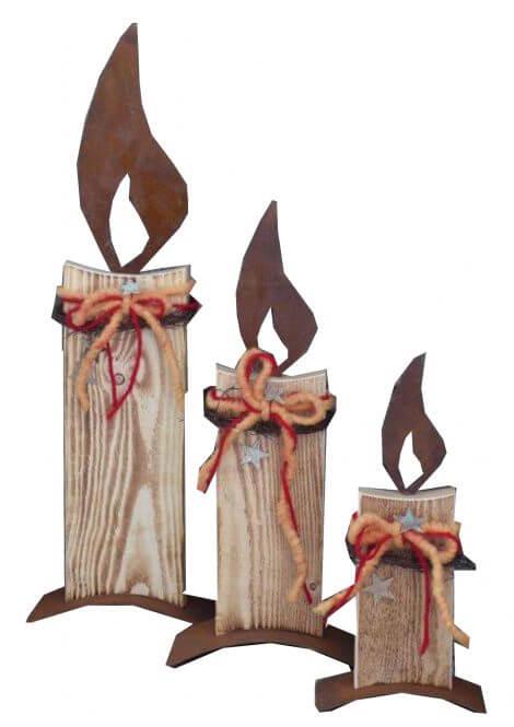 Kerze weihnachtlich verzieren mit Filz