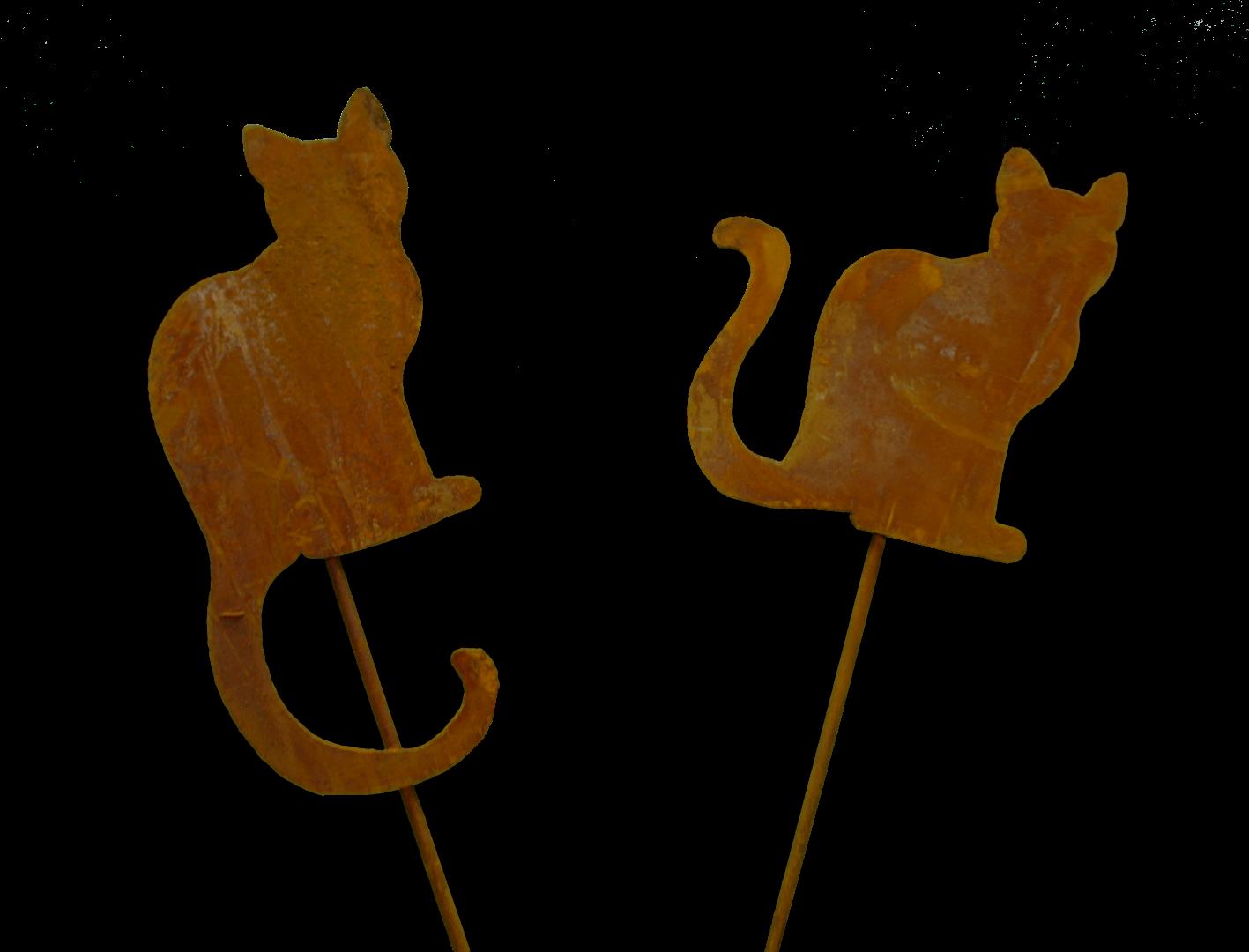 Minikatzen Gartenstecker