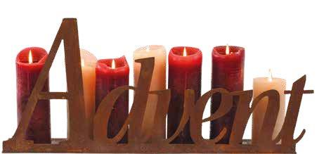 Kerzentablett mit Schriftzug Advent