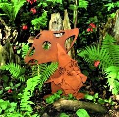 Rost Gartenzwerg lustig - Gartendeko Rost - Edelrost - Rost Deko - Rost Gartendeko