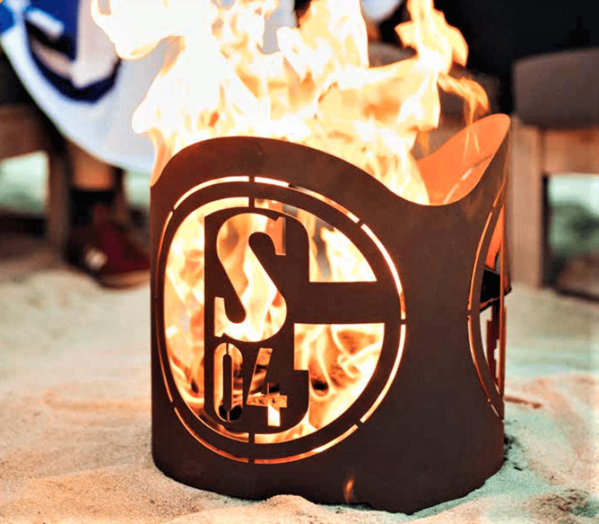 Fanshop-Artikel FCS04 Feuerkorb rund