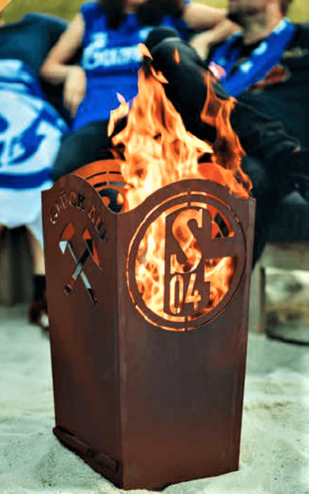 Fanshop-Artikel FCS04 Feuerkorb eckig