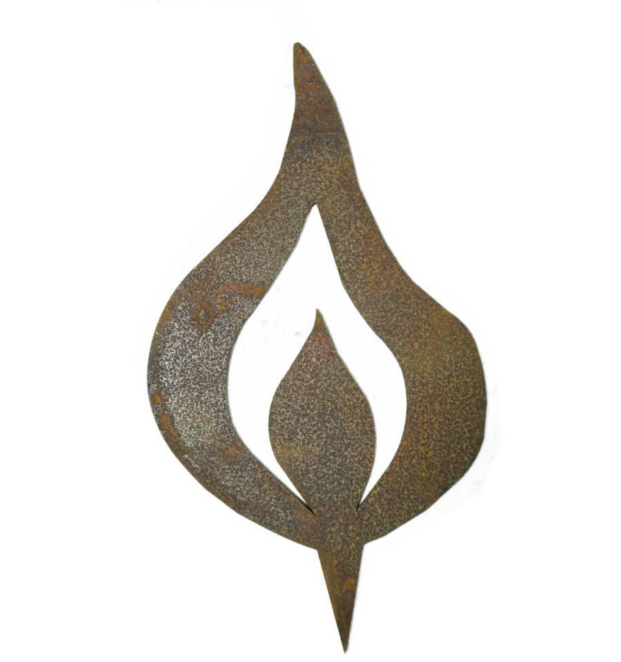 edelrost kerzenflamme mit spie 20 cm hoch wohndeko kaufen. Black Bedroom Furniture Sets. Home Design Ideas