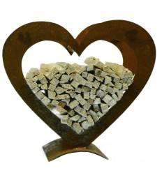 Holz rost kombinationen metallmichl for Rostiges deko
