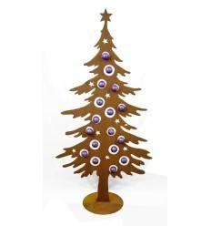 Dekotanne 175 cm hoch für Christbaumkugeln - Weihnachtsbaum aus Metall