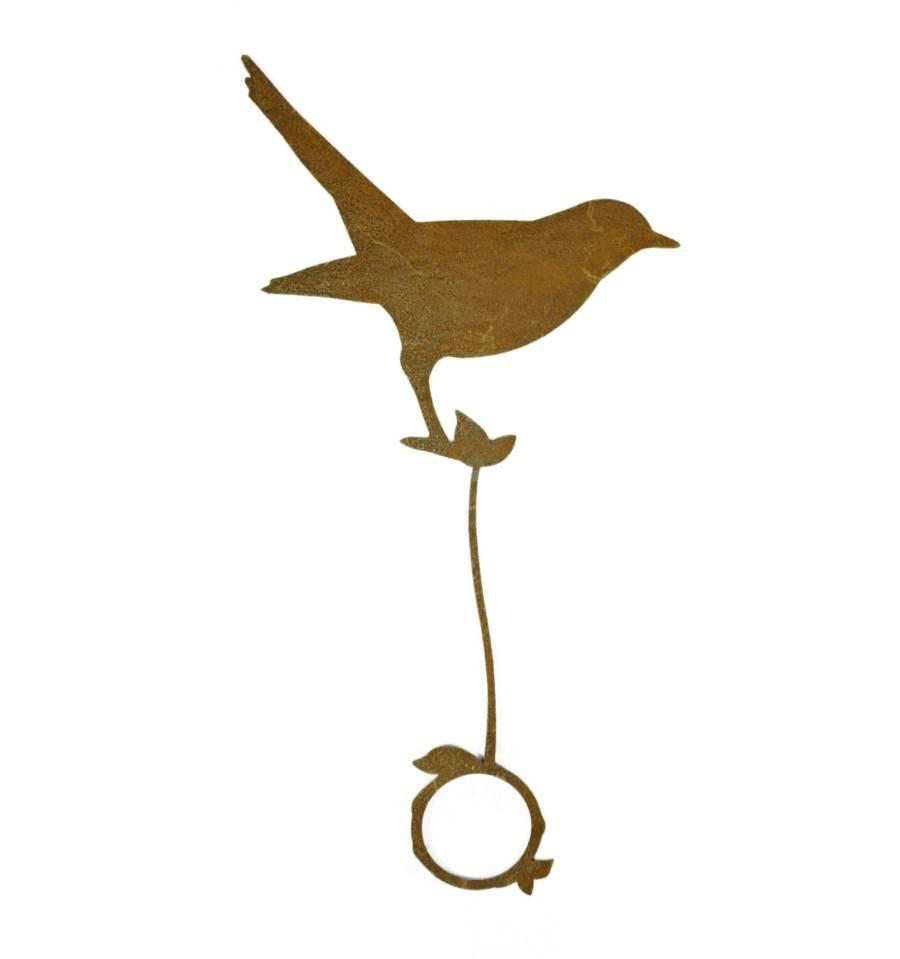 edelrost vogel amsel stehend f r ast h he 20 cm mit. Black Bedroom Furniture Sets. Home Design Ideas