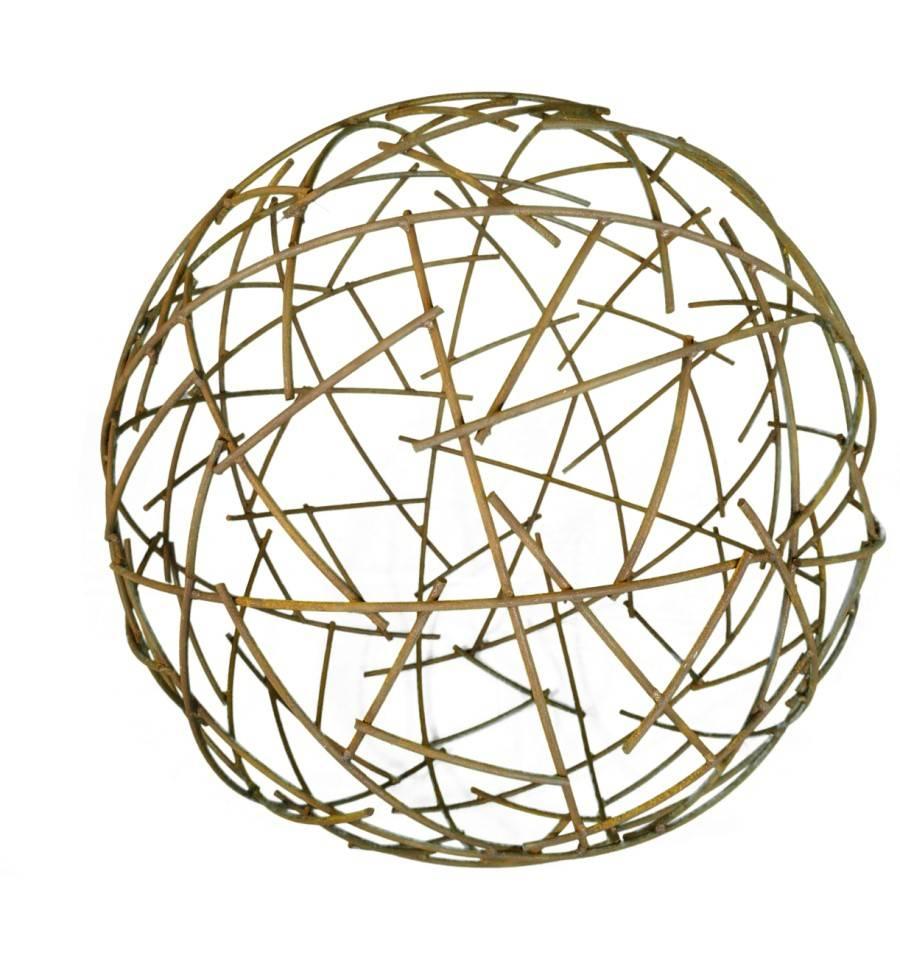 Lampe kugel draht elegante led wand decken leuchte kupfer for Pendelleuchte kugel draht