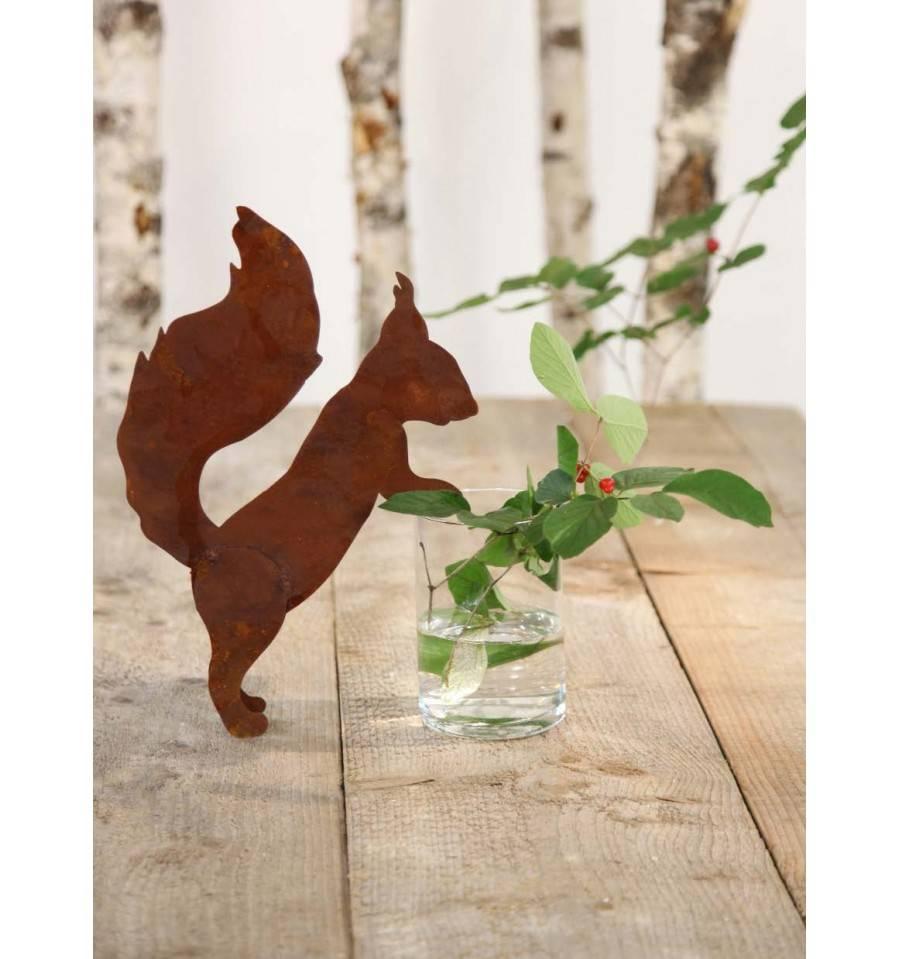 Edelrost Topfgucker Eichhörnchen 35 cm
