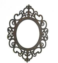 """Rahmen flach """"Ravenna"""" zum Hängen , oval mit Löchern ,40cm hoch"""