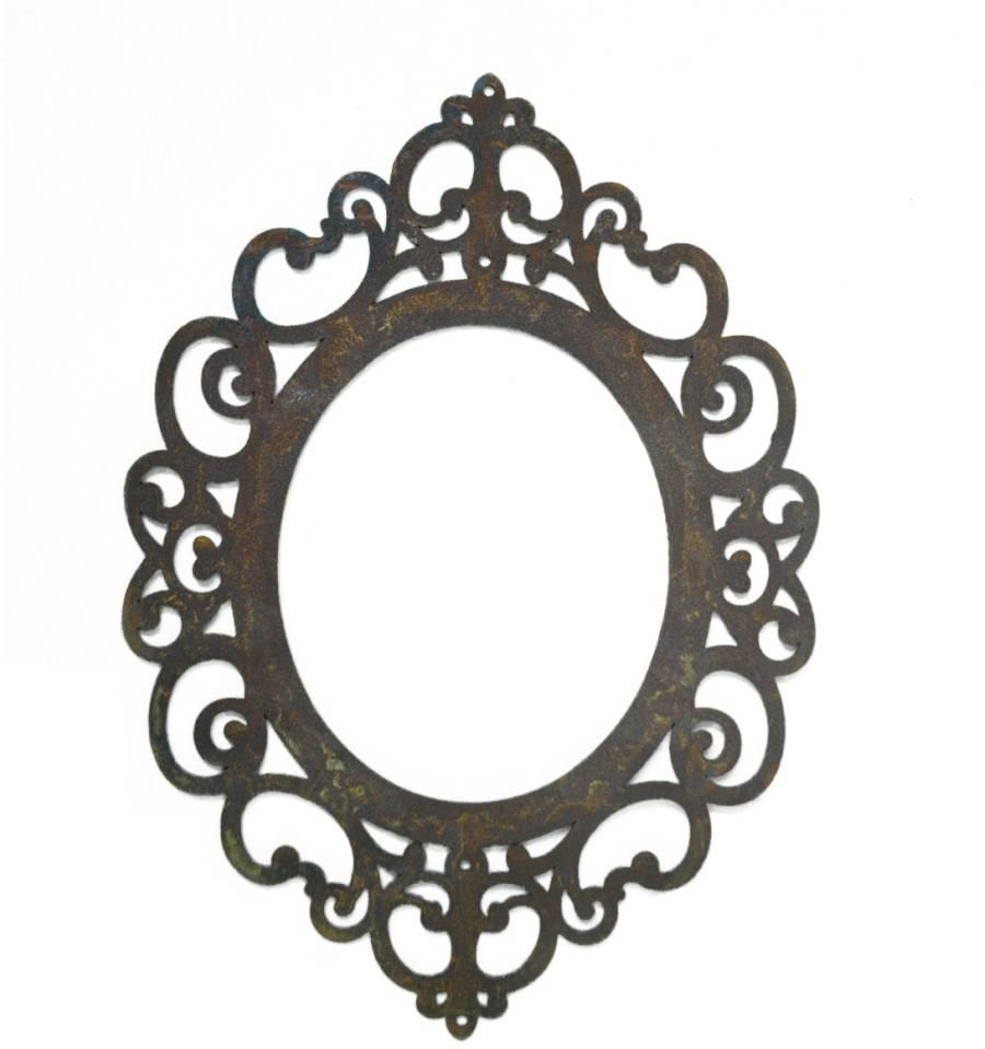 flacher rahmen ravenna zum h ngen oval mit l chern 40 cm. Black Bedroom Furniture Sets. Home Design Ideas