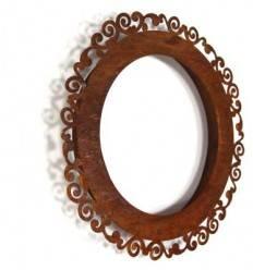 """Rahmen """"Ravenna"""" mit Distanzrahmen zum Hängen ,rund, Höhe 40 cm"""