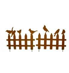 XXL Vogelzaun 2er Set zum Stecken 200 cm breit aus 3mm Stahl