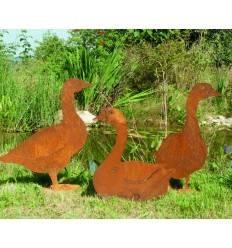 Edelrost Enten und Gänse für Heim und Garten - Metallmichl
