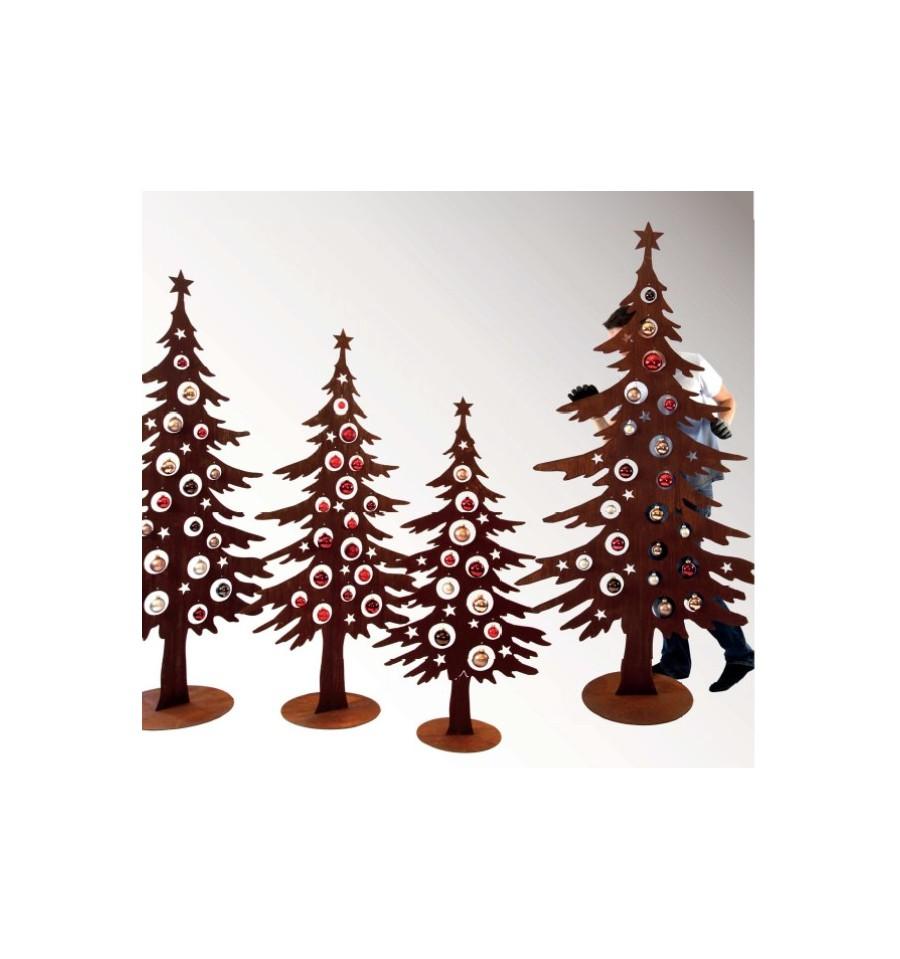 weihnachtsbaum metall 125 cm in edelrost kaufen. Black Bedroom Furniture Sets. Home Design Ideas