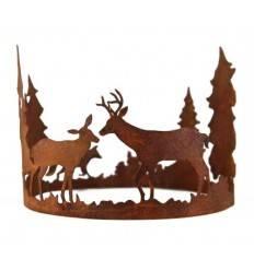 """""""Forest""""  Ring mit Waldszene Durchmesser 30cm"""