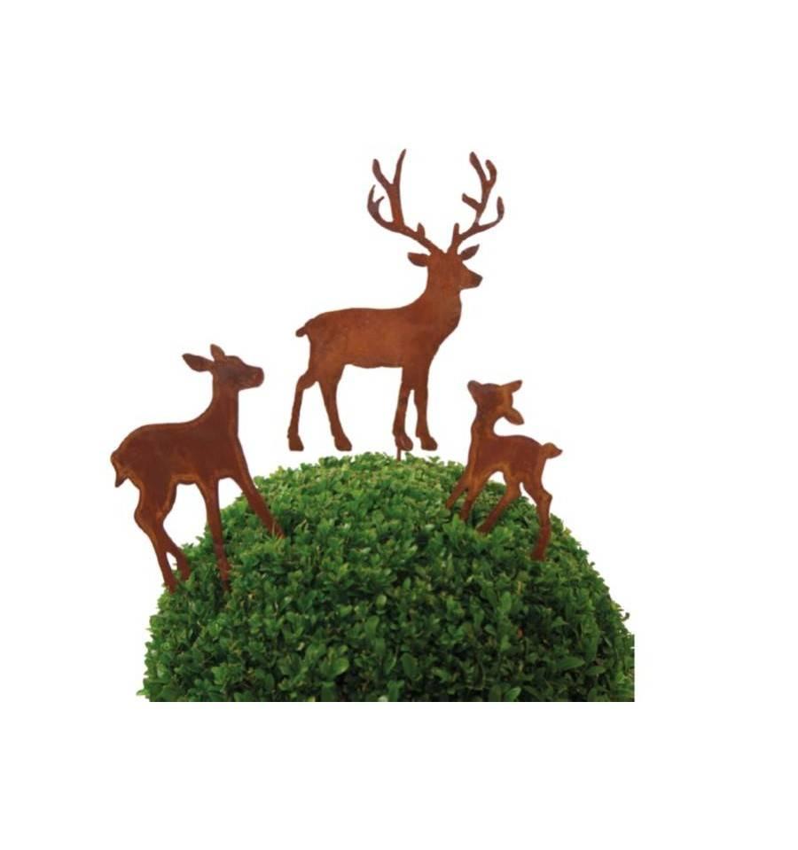 Hirsch metallmichl aus edelrost rostdeko rostig eisen for Tiere aus rostigem eisen