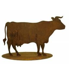 Deko Kuh Metall - seitlich stehend ohne Glocke 75 cm breit