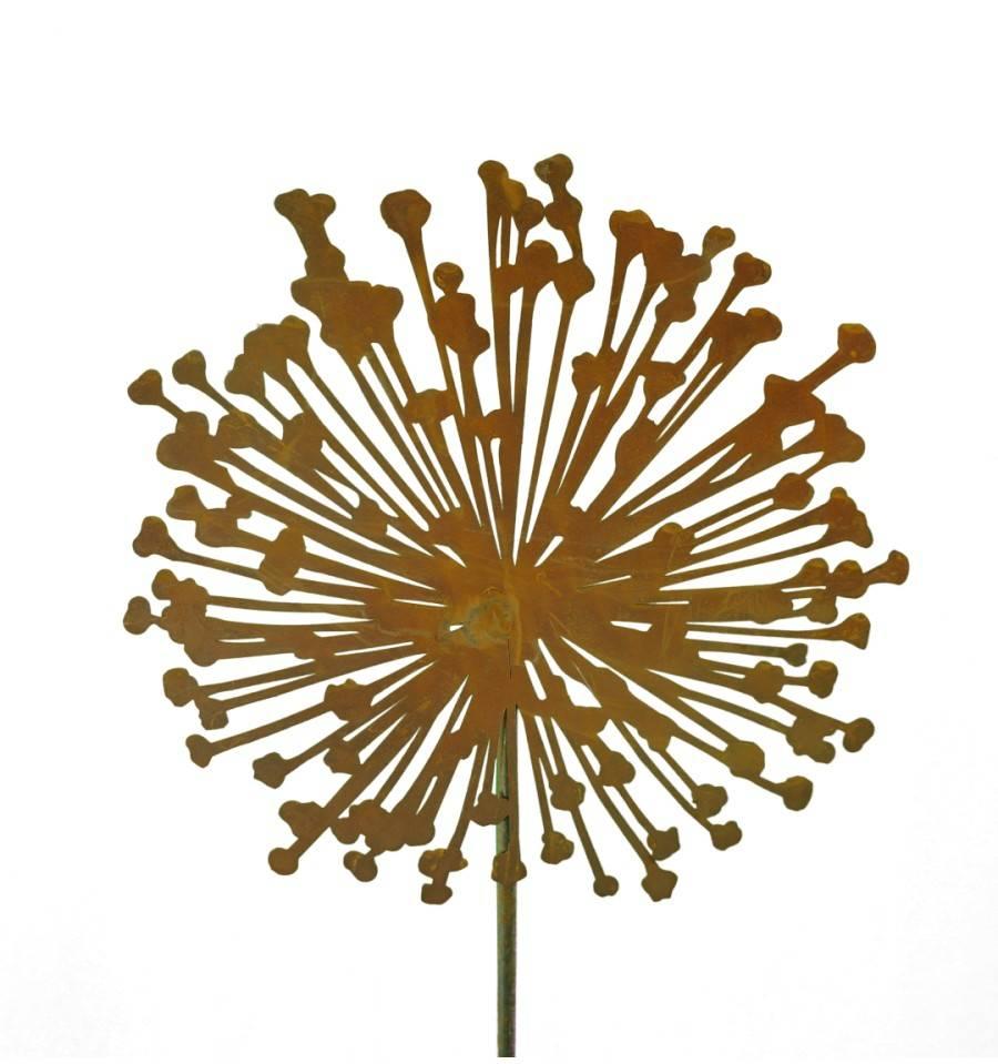 Edelrost blumenstecker allium gartendeko gartenstecker for Edelrost gartenstecker