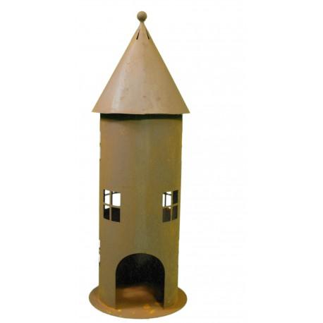 Deko Leuchtturm groß 60 cm hoch - Windicht Lichthaus