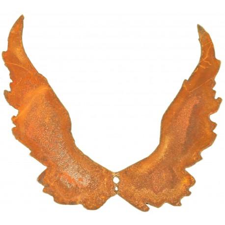 Flügel  C2 23cm hoch (groß) schmal nach Oben mit Loch zum Einarbeiten