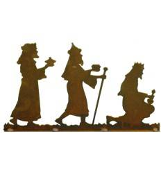 Krippenszene rechts 3 Könige , eckige Platte Figurenhöhe 17 cm