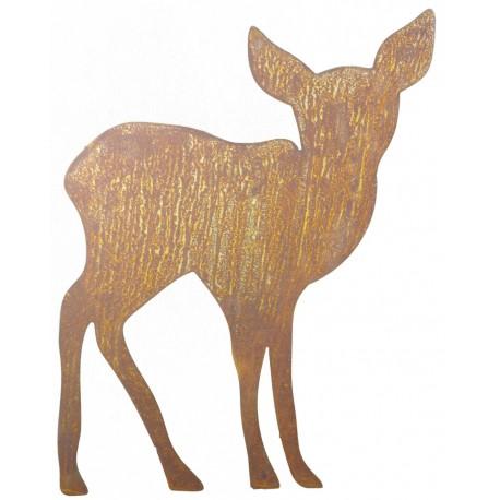 Rehkitz zum Stecken mit schöner Silhouette passend zum großen Hirsch und Reh