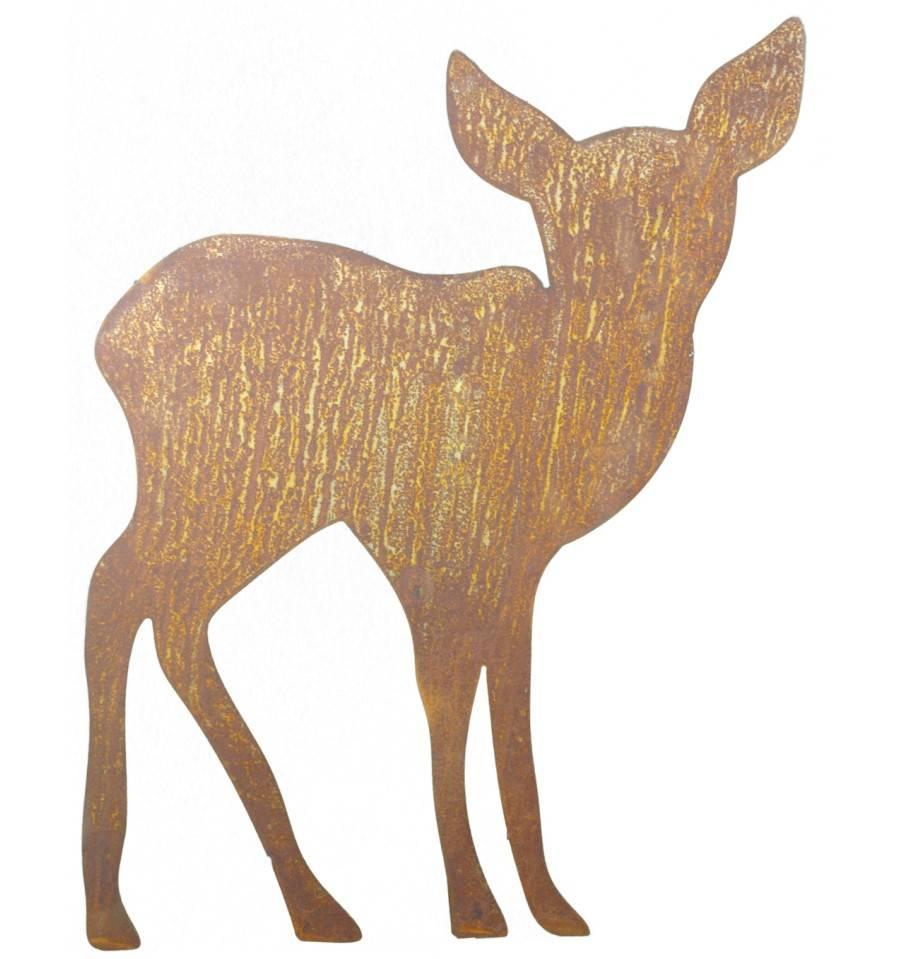 Edelrost kitz mit stab zum stecken 40 cm for Edelrost tiere