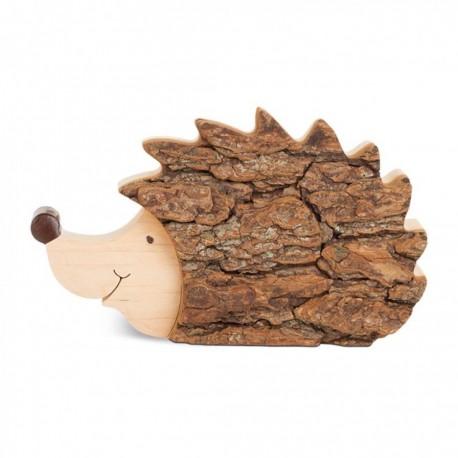 Holzdeko Igel Figur