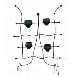 edelrost rankhilfe halbrund klein h he 100 cm radius 20 cm. Black Bedroom Furniture Sets. Home Design Ideas