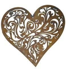 Herz zum Hängen, mit Barockausschnitten