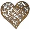 Barock Herz Ø 30 cm aufwändiges Muster, verträumt wirkende Gartendekoration