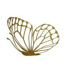 großer Schmetterling (flach) mit Ausschnitten und Steckverbindung