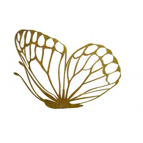 Deko Schmetterling (flach) mit Ausschnitten zum Stecken - Breite 84 cm