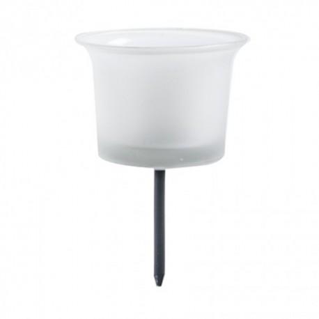 Kerzenhalter aus Glas mit Dorn | Teelichthalter aus  Milchglas -joy-