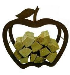 Regal Apfel-rostig mit Blatt  für Holz - 3er Set