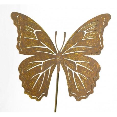 """Edelrost Schmetterling Stecker """"Farfalla"""" Deko frostsicher von Saremo Far1-20 und Far1-25"""