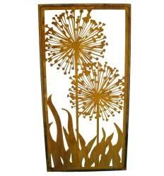 Paravent Allium Höhe 200cm, Breite 100cm -Edelrost Sichtschutz
