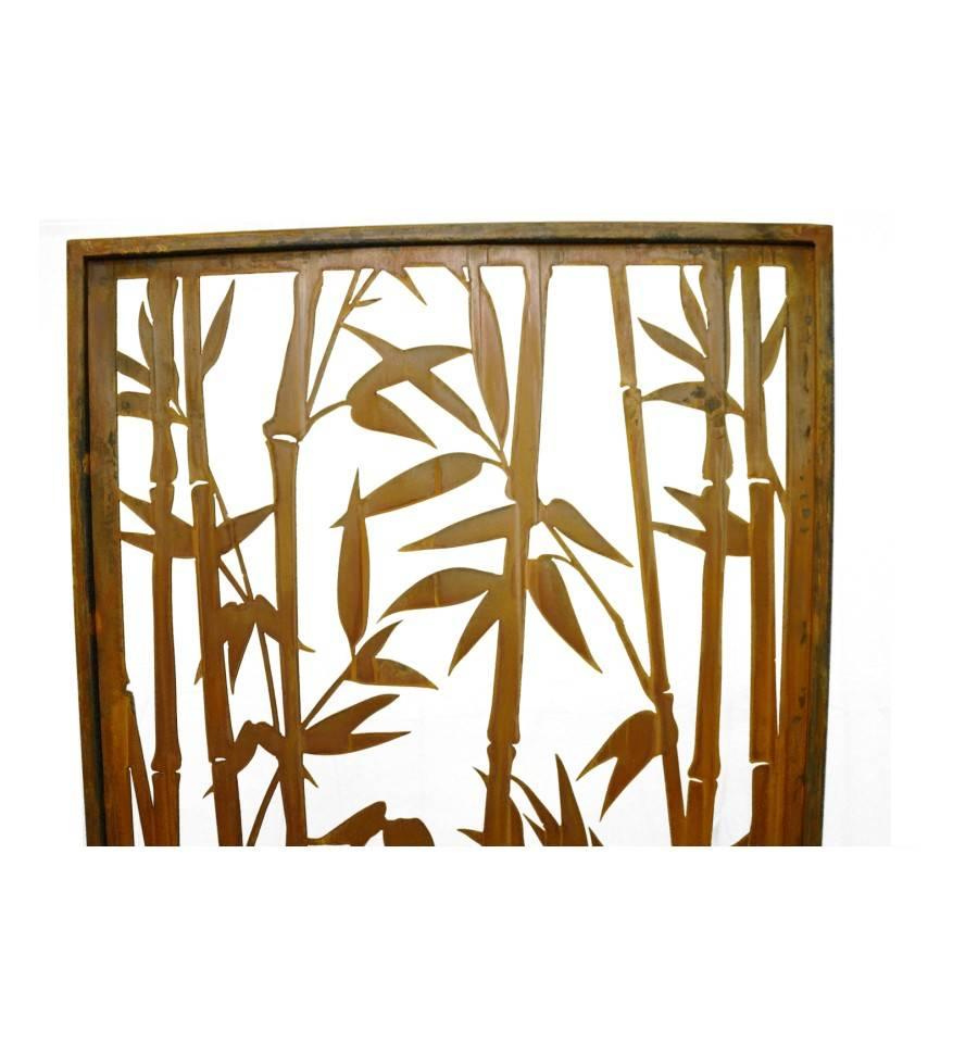 rost sichtschutz offener bambus paravent h he 200 cm. Black Bedroom Furniture Sets. Home Design Ideas