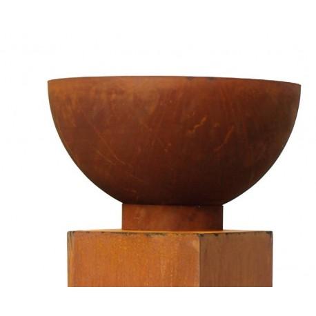 Halbkugel (Schale) Ø 40 cm mit angeschw. Ring als Standfuss
