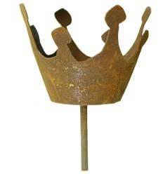 Konische Krone mit Boden 8 hoch - Mit kurzem Stab für Gestecke