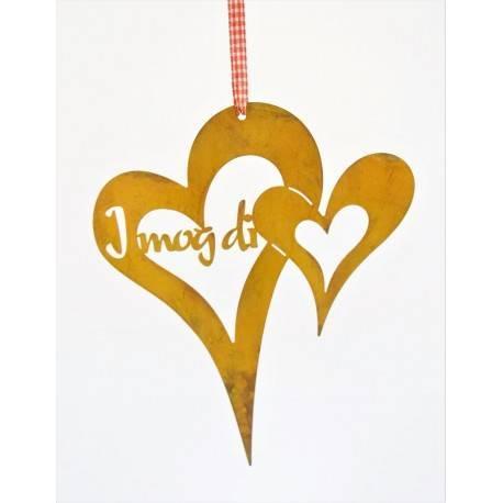 """für die Liebsten - Herz zum Aufhängen """"I mog di"""""""